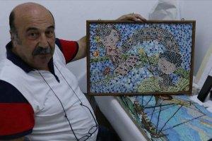 Hobi olarak başladı, cam parçalarını sanat eserine dönüştürdü