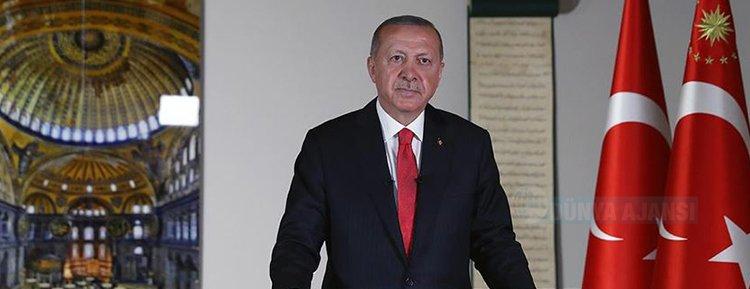 Cumhurbaşkanı Erdoğan: 24 Temmuz Cuma günü cuma namazı ile birlikte Ayasofya ibadete açılıyor