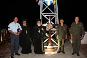 Yunan Türkiye'ye nispet Yeni Bosna'ya (Nea Vissa) haç dikti