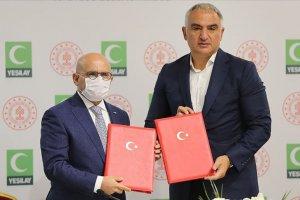 Kültür ve Turizm Bakanlığı ile Yeşilay arasında protokol imzalandı