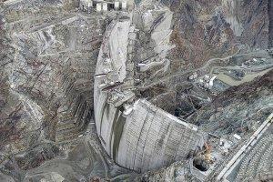 Artvin Yusufeli Barajı'nda gövde yüksekliği 275 metreye ulaştı