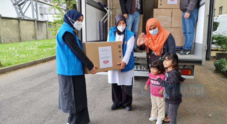 DİTİB'den İtalya'daki mülteci kamplarına ve ihtiyaç sahibi ailelere Ramazan yardımı
