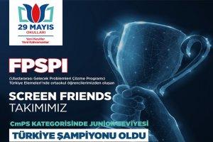 FSPI Yarışması'nda Türkiye'yi TDV 29 Mayıs Okulları temsil edecek