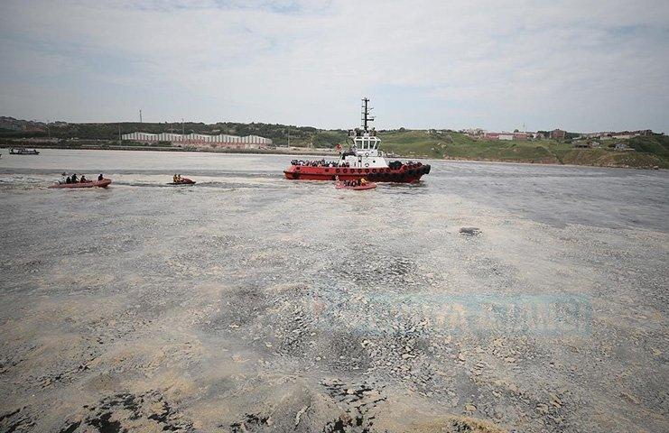 Marmara Denizi'nde deniz salyası temizleme seferberliği başladı