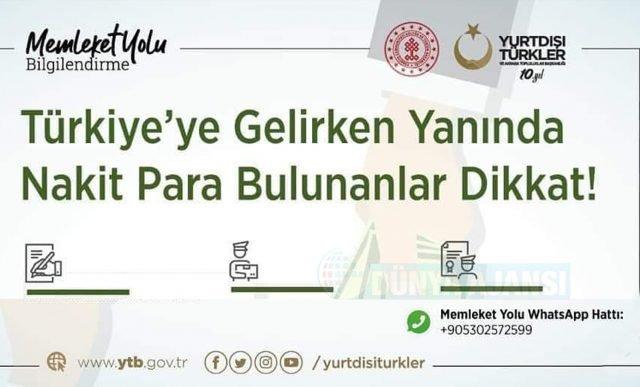 Türkiye'ye giderken yanında nakit para bulunanlar dikkat!