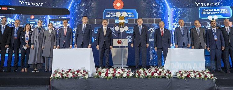 Cumhurbaşkanı Erdoğan Türksat 5A Uydusu'nu hizmete aldı, Türksat 6A'da test aşamasına geldi