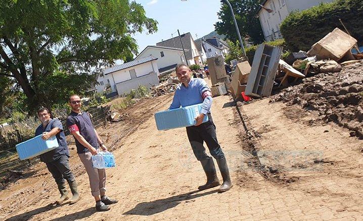 DİTİB cami derneklerinden Sinzig'deki sel mağdurlarına destek