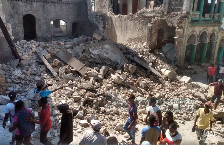 Haiti depreminde ölenlerin sayısı 1297'ye yükseldi, yaralı sayısı 5 bin 700'ü aştı