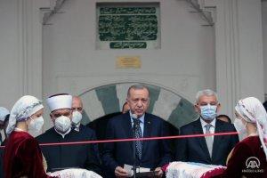 Saraybosna'daki Başçarşı Camisi, Cumhurbaşkanı Erdoğan'ın katıldığı törenle yeniden ibadete açıldı