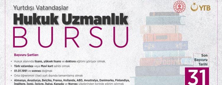 YTB, yurt dışında hukuk okuyan Türk öğrencilere burs imkanı